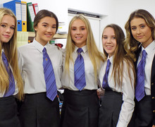 Alliott House girls together in house