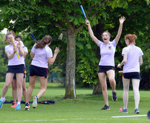 Alliott House cheering in Senior School Rounders