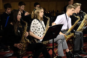 Musicians performing in Senior School Band Night