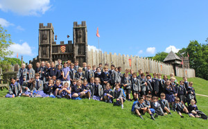 Upper shell on history trip to stansted mountfitchet