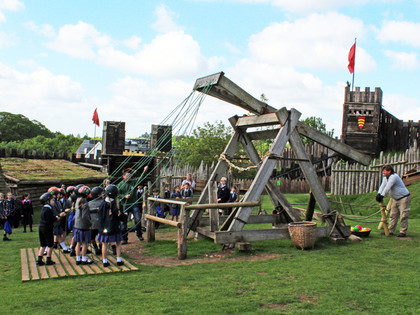 Upper shell with trebuchet at stansted mountfitchet
