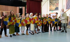 Lower Shell Viking Warriors in Prep School Hall