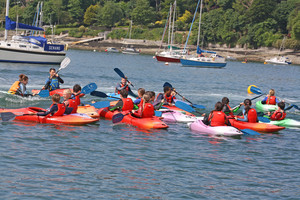 F2 Science trip to Cornwall out in kayaks