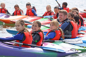 F2 kayaking on Science Cornwall Trip