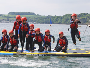 F2 group kayaking on Science trip to Cornwall