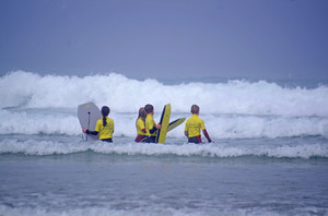 F2 surfing waves on Science Cornwall Trip