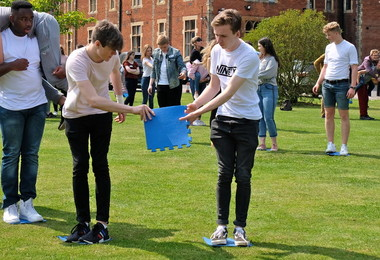 Teambuilding Activities outside on L6 Leadership Day