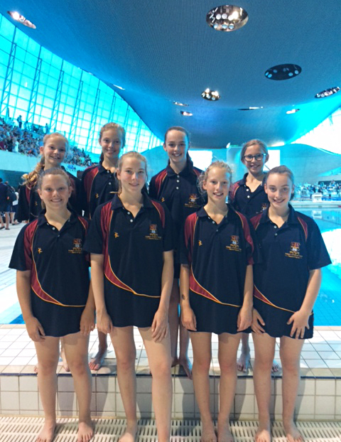 Iaps girls at london aquatic centre