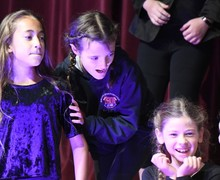 Form 1 Entertains on stage in Prep School Hall