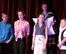 Form 1 Entertains production in Prep School Hall