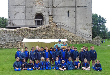Year 2 pupils on trip to Hedingham Castle
