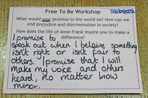 Anne Frank Workshop for Lower Third