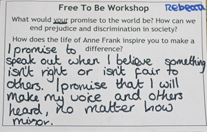 Anne frank workshop l3 postcard