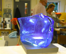 Blue lamp for Product Design Show 2018