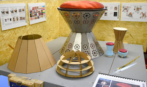 Indian inspired stool Design Show 2018