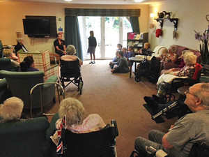 Poetry recital at mountfitchet care home