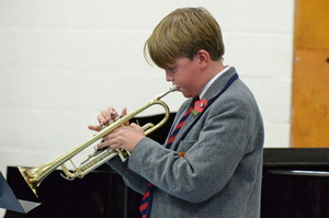 Trumpet player in Prep School