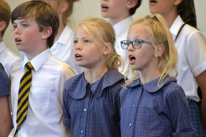 Westfield House singers perform in Prep School House Music 2018