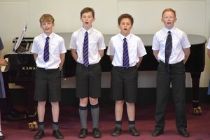 Newbury House boys in Prep School House Music 2018