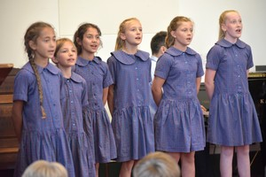 Girls sing in Prep School House Music 2018