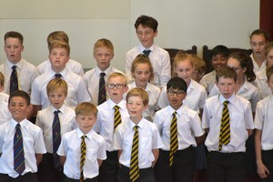 Prep School boys singing in House Music 2018