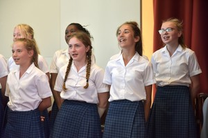 Singers competing in Prep School House Music 2018