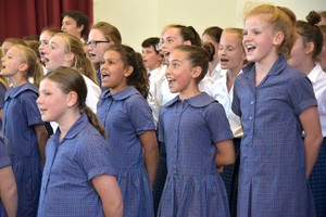 Prep School singers in House Music Competition 2018