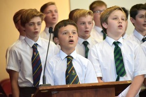 Prep School boys in House Music 2018