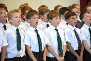 Singing in Prep School House Music Mem Hall 18