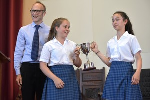 Prep School House Music with trophy 2018