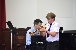 Trumpetist in Prep School House Music 2018