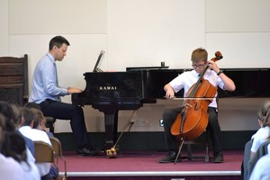 Cellist in Prep School House Music 2018