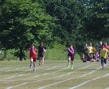 Boys running at prep school sports day 2018