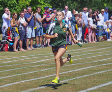 Grimwade house girl running prep school sports day 2018