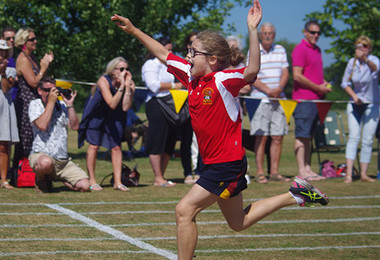 Monk jones house girl running sports day 2018