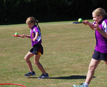 Newbury girls egg and spoon race sports day 2018