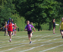 Prep school girls in sports day race 2018