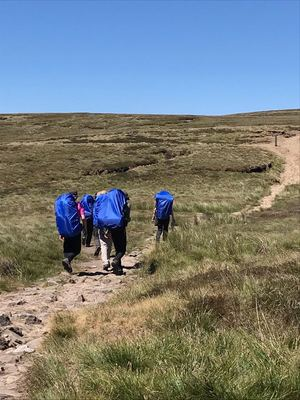 Day 1 after lunch of DofE Gold Expedition 2018