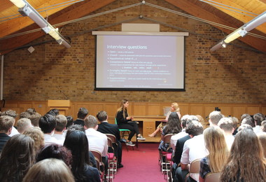 L6 Interview Skills Workshop with OS students
