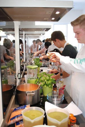 Lower 6th students busy cooking at cookery course 2018