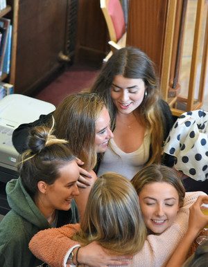 College girls celebrate 2018 A Level Results