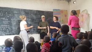 Sixth Formers in school classroom Kenya 2018