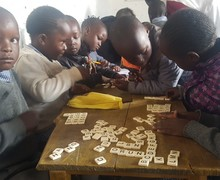 School children working on Kenya Trip 2018
