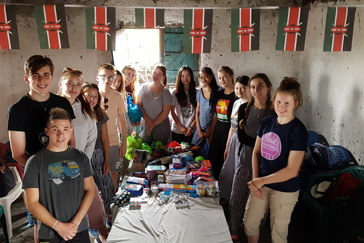 Sixth Form students inside school on Kenya Trip 2018