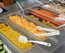 Salad bar in the dining hall