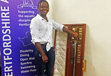College Swimmer Awarded Wilkinson Sword