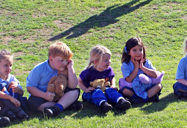 Pre-Prep pupils at Teddy bears picnic