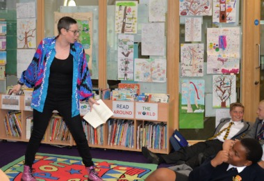 Performance Poet Inspires Prep School