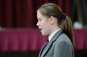 Independent School girl singing