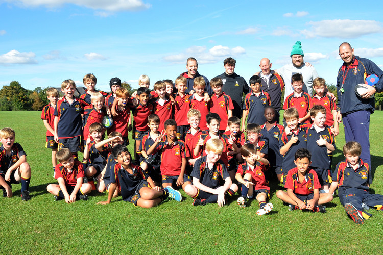 Prep School rugby group with Russell Earnshaw coach